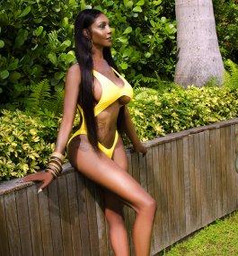 Black haired women naked bent over